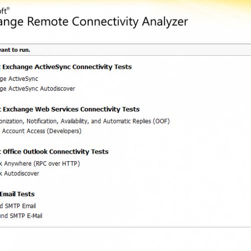 Cum sa testez conectivitatea cu Microsoft Exchange Server?