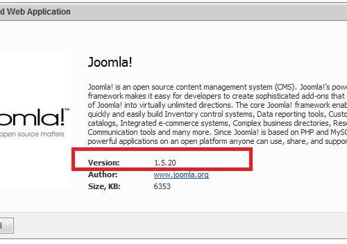 Instalare Joomla folosid Microsoft Web App Gallery din WebSitePanel